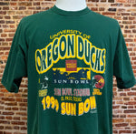 Vintage OREGON DUCKS Football 1999 Sun Bowl Men's XL Tee Shirt Rare