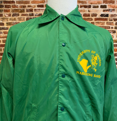 Vintage 80's OREGON DUCKS Marching Band Men's XL Windbreaker Jacket Rare