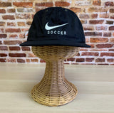 Vintage 90's NIKE SOCCER Strapback Hat RARE One Size Fits All