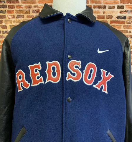 Vintage 90's Boston Red Sox Men's XL Varsity Letterman Jacket Rare made by Nike