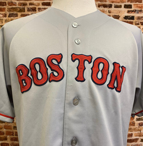 Vintage 90's BOSTON RED SOX Men's Large Button Up Baseball Jersey Rare made by Majestic