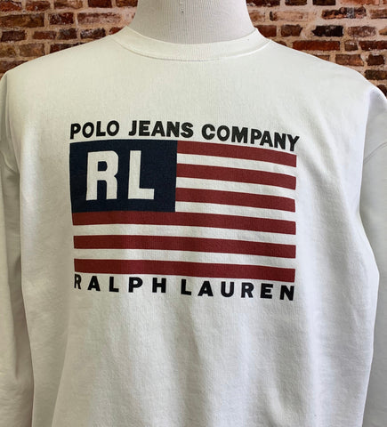 Vintage 90's Polo Jeans Men's Large Crewneck Sweatshirt RARE