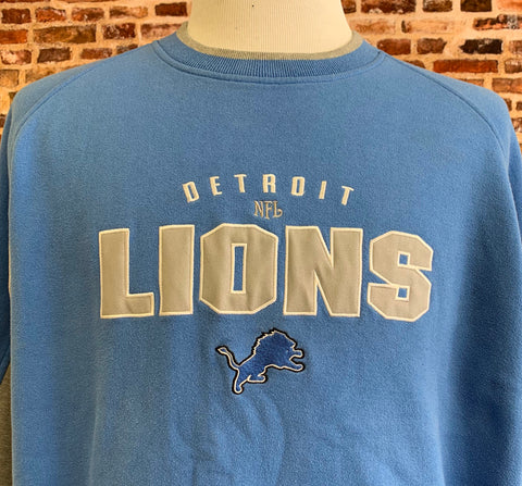 Vintage 90's DETROIT LIONS Men's XL Embroidered Crewneck Sweatshirt Rare