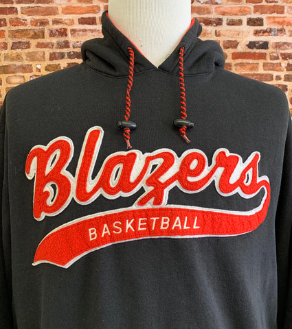 Vintage 90's Portland Trail Blazers Men's Medium Script Hoodie Sweatshirt RARE made by Starter
