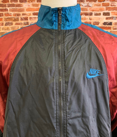 Vintage 90's Nike Men's Large Color Block Windbreaker Jacket RARE