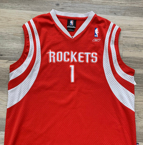 Vintage Tracy McGrady HOUSTON ROCKETS Youth XL Stitched Swingman Jersey Rare made by Reebok