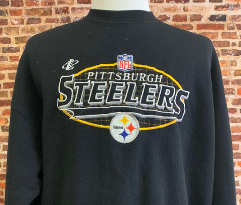 Vintage 90's  Pittsburgh Steelers Men's XL Embroidered Crewneck Sweatshirt RARE made by Logo Athletic