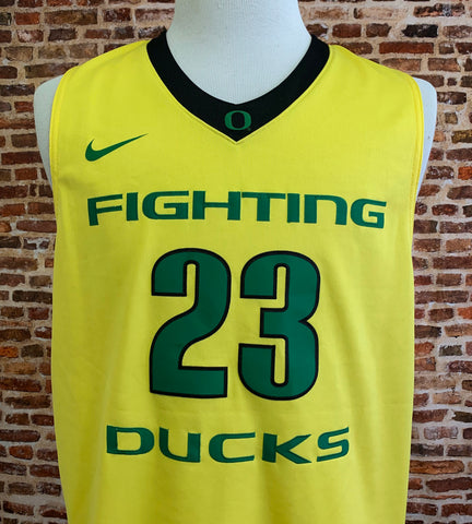 Elgin Cook OREGON DUCKS Basketball Men's Large Stitched Swingman #23 Jersey RARE made by Nike