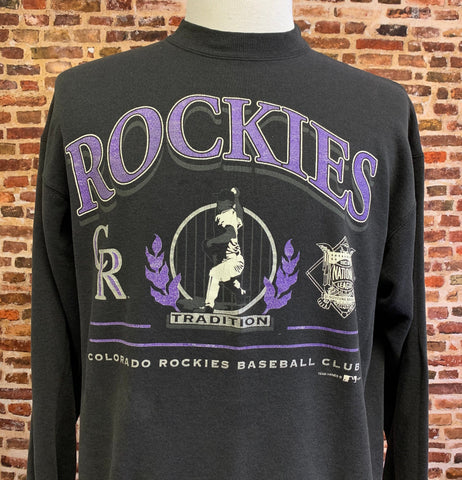 Vintage 90's COLORADO ROCKIES Men's Large Pullover Crewneck Sweatshirt RARE