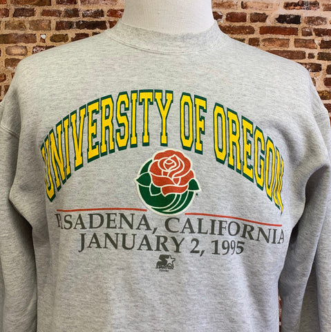 Vintage OREGON DUCKS Football 1995 Rose Bowl Men's Small Crewneck Sweatshirt RARE made by Starter