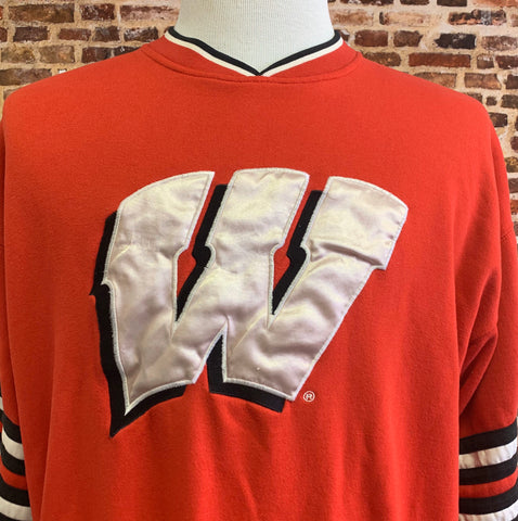 Vintage 90's WISCONSIN BADGERS Men's Large Crewneck Sweatshirt RARE made by Starter