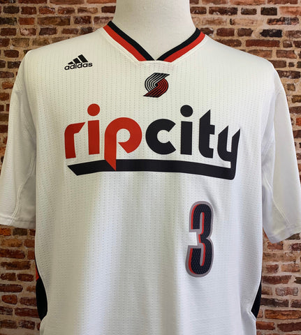 Portland Trail Blazers CJ MCCOLLUM Men's XL Sleeved Jersey made by Adidas