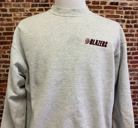 Vintage 90's Portland Trail Blazers Men's XL Embroidered Pullover Heavyweight Crewneck Sweatshirt RARE