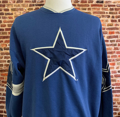 Vintage 90's DALLAS COWBOYS Men's Large Pullover Crewneck Sweatshirt made by Starter