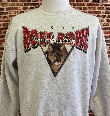 Vintage WASHINGTON STATE Cougars Football 1998 Rose Bowl Men's Large Crewneck Sweatshirt RARE