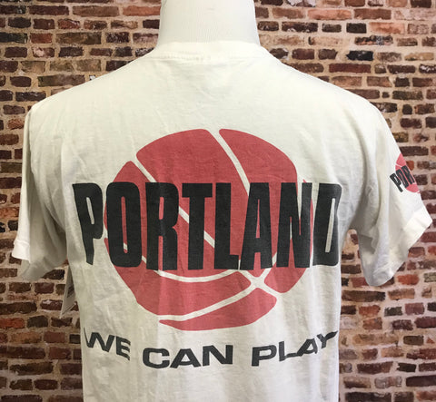 "Vintage 90's Blazers ""We Can Play"" Double Sided Graphic Tee"