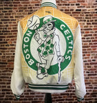 "Vintage 80's Boston Celtics ""Fanimation"" Bomber Jacket"