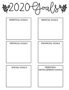 FREE 2020 Goal Sheet (Download PDF)