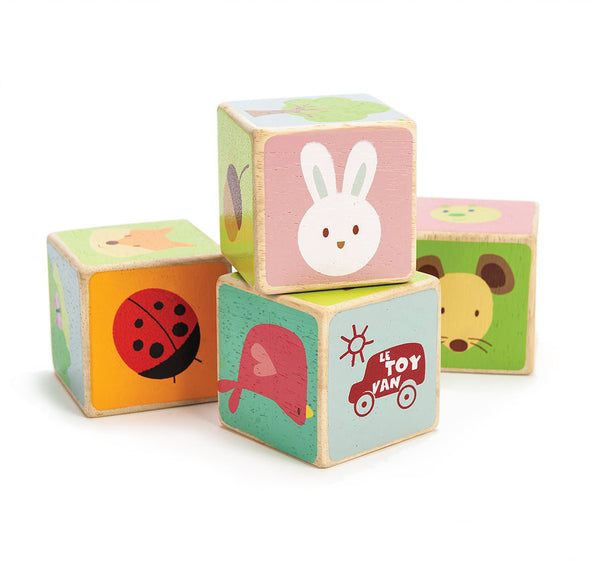 Cube en bois Little Leaf Blocks