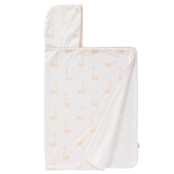 Cape de bain XL swan pale peach