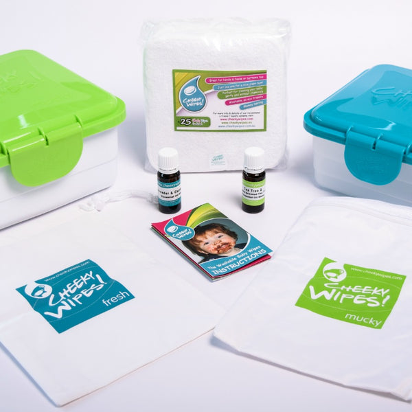 Kit tout-en-un Cheeky Wipes coton prémium
