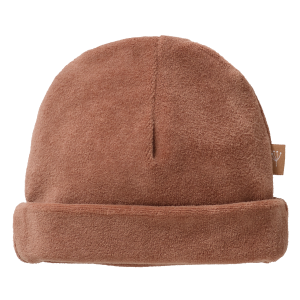 Bonnet en velours - Tawny Brown