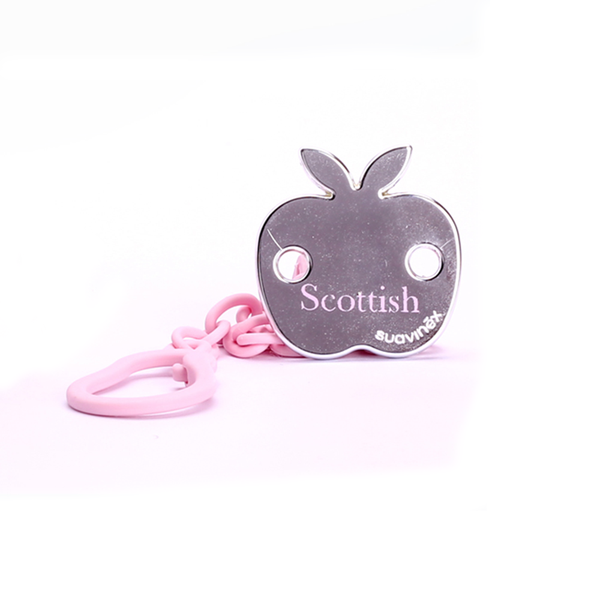 Attache-tétine rose Scottish
