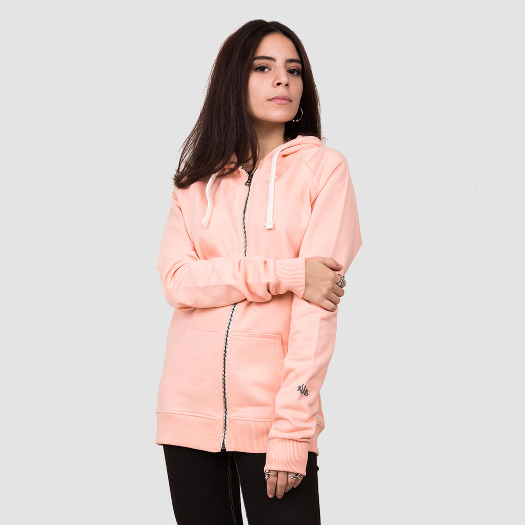Basic Zip-up - Peach Melba