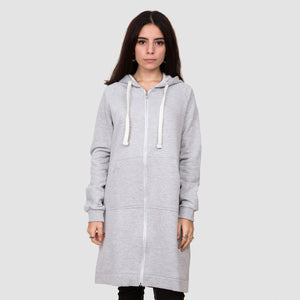 Heather Grey Long Zip-Up