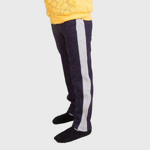 Navy Blue Sweatpants with Stripe