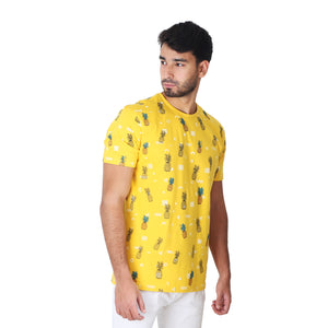 Abstract Pineapples - Yellow