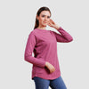 Basic Long Sleeve Shirt - Violet