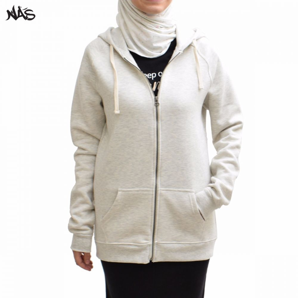 Basic Zip-Up - Light Heather Grey