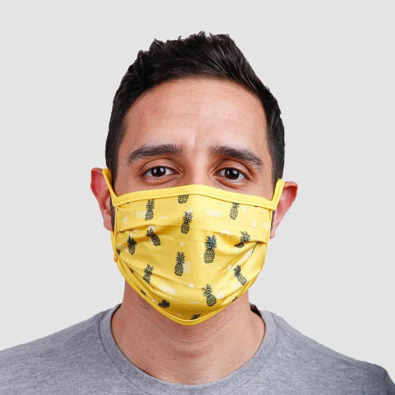 Abstract Pineapples Face Mask