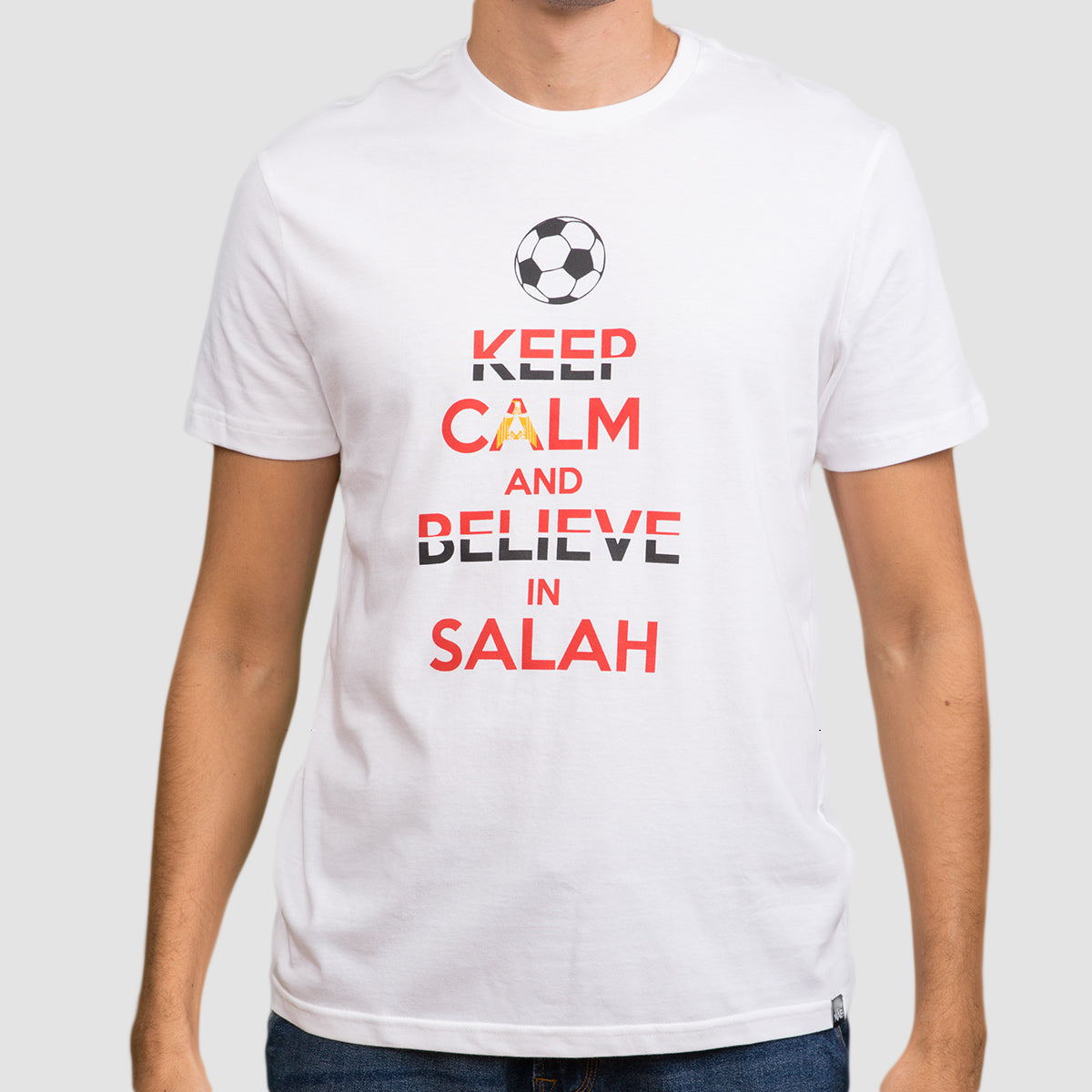 Keep Calm and believe in Salah - White