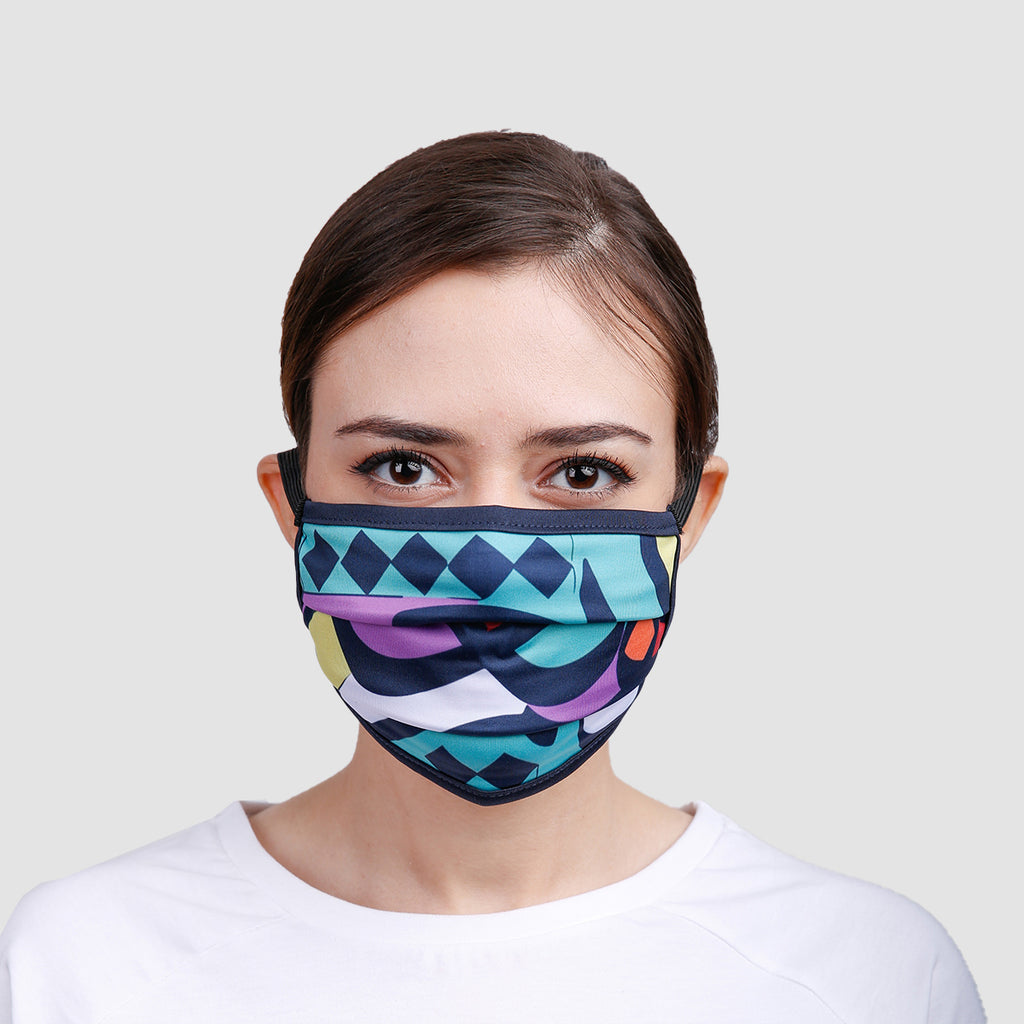 Color Caligraphy Overhead Mask