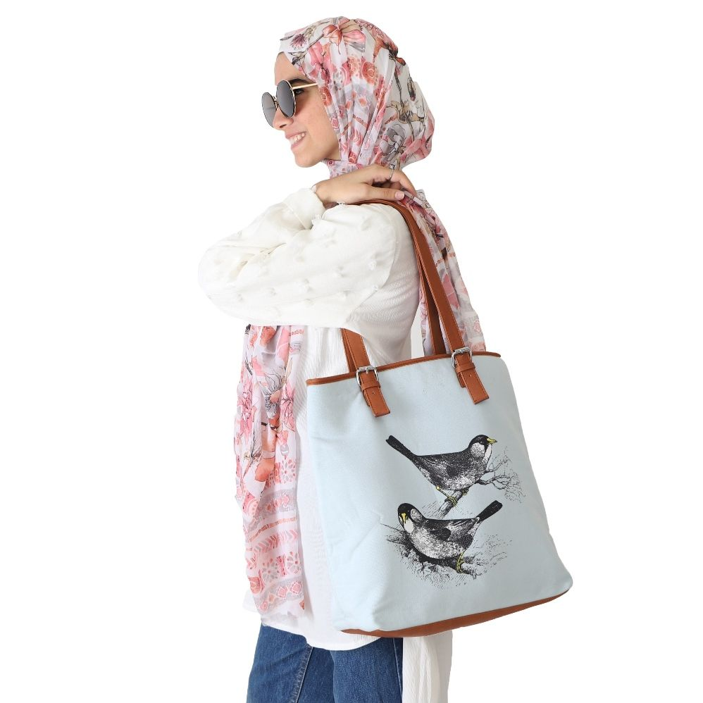 Birds Branches - Melton Handbag