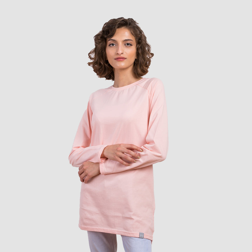 Basic Long Sleeve Shirt - Impatience Pink