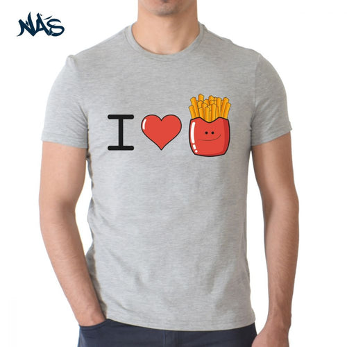 I Love Fries - Heather Grey