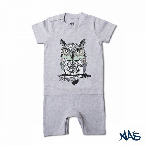 The Owl - Light Heather Grey