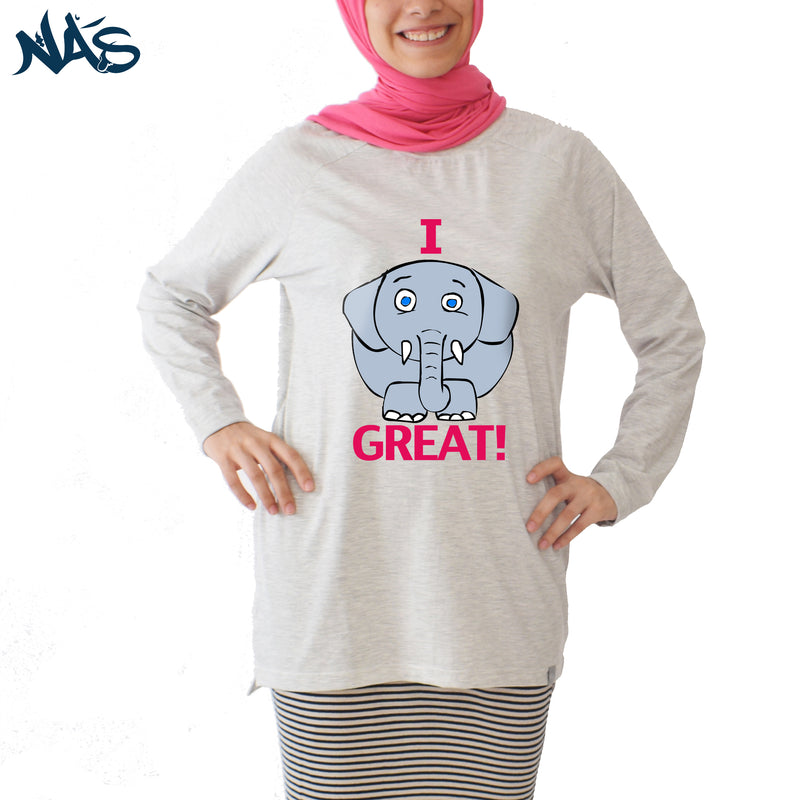 I Feel Great - Light Heather Grey