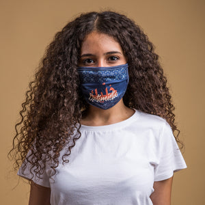 Be Optimistic Face Mask Navy Blue