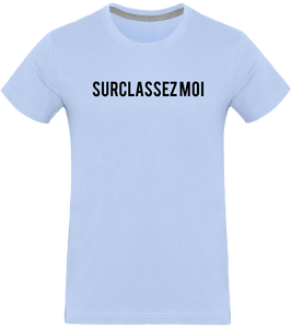 T-shirt THEFRENCHTRAVELER - Surclassez-Moi - en coton Bio - The French Traveler Store