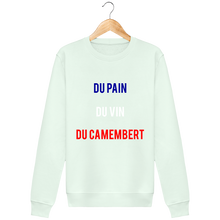 Charger l'image dans la galerie, Sweat Col rond THEFRENCHTRAVELER - Du Pain Du Vin Du Camembert - The French Traveler Store