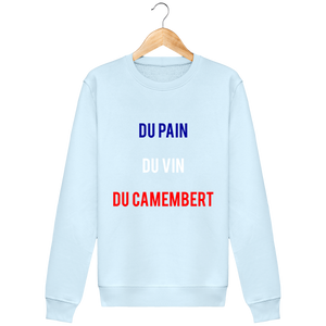 Sweat Col rond THEFRENCHTRAVELER - Du Pain Du Vin Du Camembert - The French Traveler Store