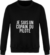 Charger l'image dans la galerie, Sweat Col Rond Unisexe THEFRENCHTRAVELER - Je Suis Un Copain Du Pilote - The French Traveler Store