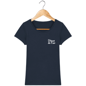 Tee Shirt Femme - THEFRENCHTRAVELER -Coton Bio - Brodé - Déesse de l'air - The French Traveler Store