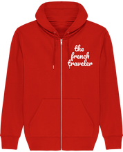 Charger l'image dans la galerie, Sweat Zip Capuche - THEFRENCHTRAVELER - Coton Bio - Brodé - The French Traveler Store