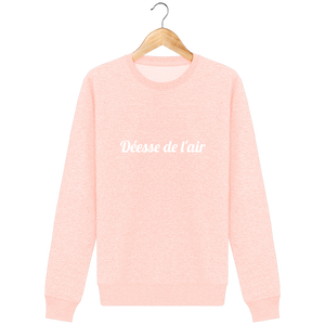 Sweat Col rond Unisex - THEFRENCHTRAVELER - Coton Bio - Brodé - Déesse de l'air - The French Traveler Store
