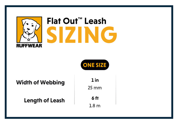 Ruffwear Flat Out Lead Size Guide | Barks & Bunnies